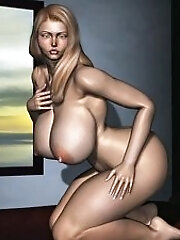 Big bust and hot 3D Beauty...