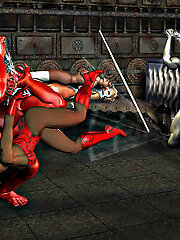 Blindfolded 3D Lesbian with...