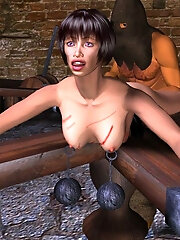 Dirty 3D Brunette with...