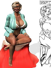 Kinky Toon Lady with green...