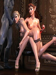 Insane 3D Hussy with rock...
